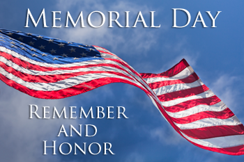 Memorial day -Remember and honor