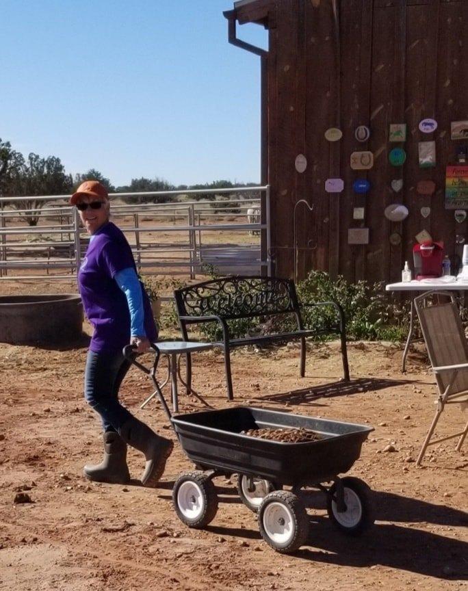 20201113 Mari Lenton hauling rock