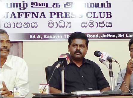 Sritharan press conf Jaffna