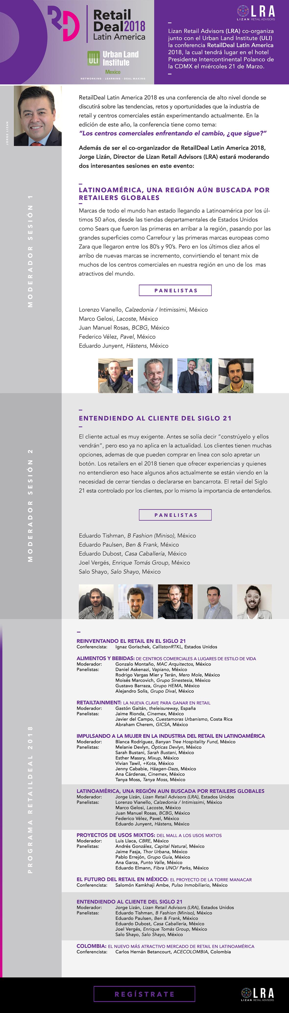 Lizan Retail Advisors LRA presente en The RetailDeal Latin America 2018