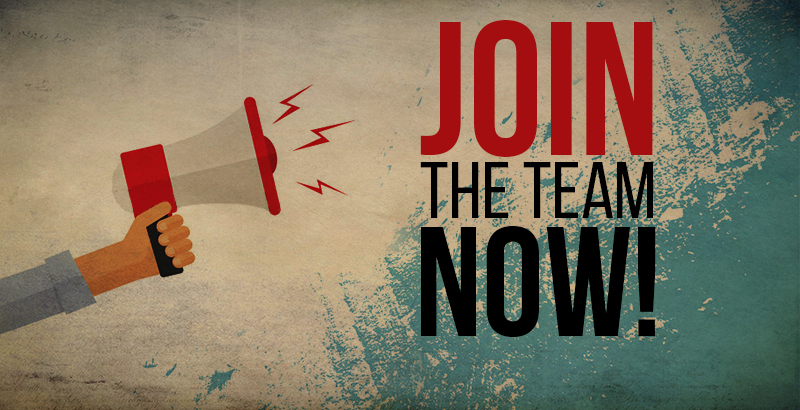 join the team now megaphone