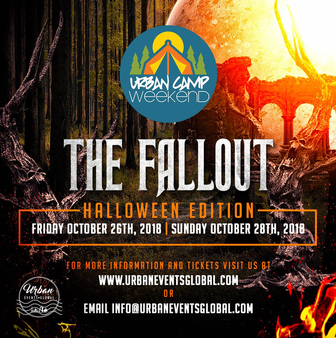 Fallout 2018 Urban Camp flyer