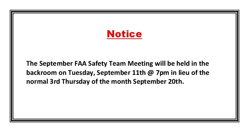 FAA Safety Meeting