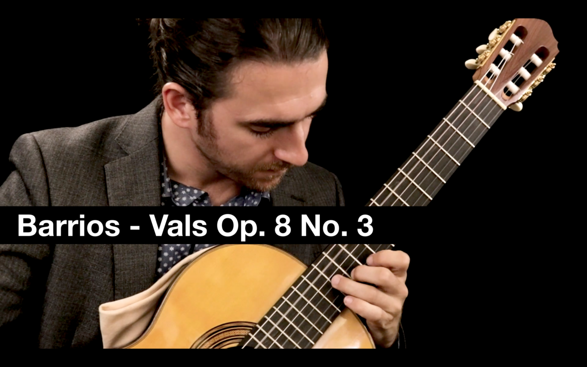 Elite Guitarist Tutorial Classical Guitar Vals Op. 8 No. 3