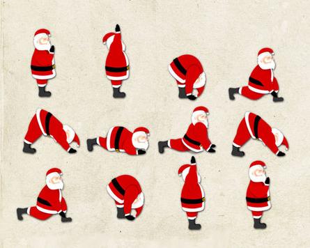 Santa stretching